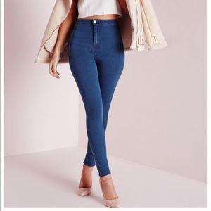 High waisted skinny jeans. Size 4 short.